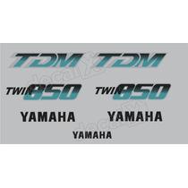 Kit Adesivos Yamaha Tdm 850 1992 À 1993 Prata. - Decalx
