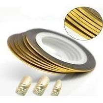 Frete Gratis 10 Fitas Metalizadas 5 Douradas 5 Prata Unhas