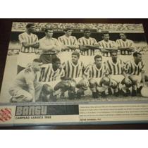 Poster Bangu Campeão Carioca 1966 21x27 Cm Placar