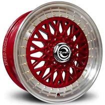 Roda Zunky Zk-370 Bbs Aro 17 Vermelha Diamantada