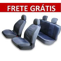 Capa De Banco Automotivo Cinza Nylon Estampas Frete Grátis