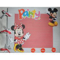 Livro De Assinatura Aniversario- Minnie E Mickey
