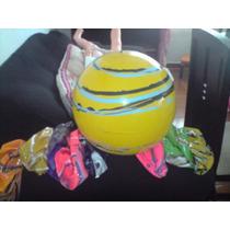 Bola De Vinil Coloridas Lembrança P/aniversário Bolão 40cm