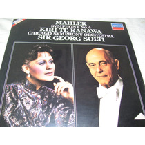 Lp, Mahler , Sinf N. 4 - Lp Novo, Lacrado-