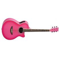 Violão Aço Tagima Dallas Tuner Cut Cap C/ Afin Pink 7159