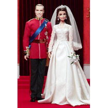 Barbie Principe William & Kate Noivo E Noiva Corte Inglesa