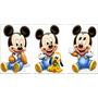 Kit 3 Mickey Baby Disney Display Mesa Mdf Decoração De Festa