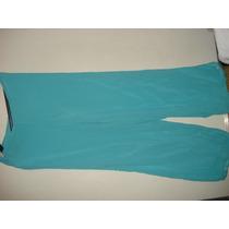 Calça Em Voal Tipo Pantalona Forrada Nova Tam P