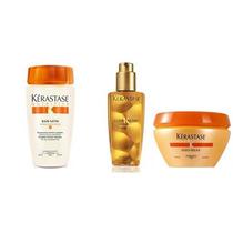Kerastase Shampoo + Máscara Oleo Relax + Elixir Ulitme 125ml