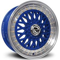 Roda Zunky Zk-370 Bbs Aro 17 Azul Diamantada