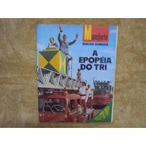 Revista Manchete Edição Sonora Copa 1970 Com Disco De Vinil
