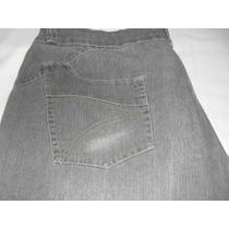 Bermuda Jeans Cinza - Tam.54 - Feminina - Strech