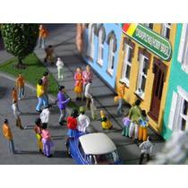 50 Figuras Humanas Em Pé Ho 1:87 Em Plástico