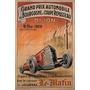 1929 Carro Corrida 3 Dijon Franca Grande Antigo Poster Repro