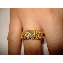 Ivi1388 = Anel Pavê = 26 = Diamantes Ouro 18k 750 !!!