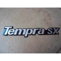 Emblema Cromado Linha Fiat Tampra Sx Com Fundo Preto