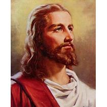 Tela Quadro Retrato Jesus Cristo Sacro Religioso