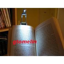 Luminária Leitura Led. Livro, Revista, Luz, Leitura Noturna.