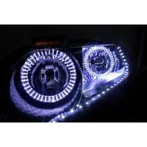 Farol Tuning Honda New Civic Angel Eyes E Tira De Led´s