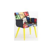 Poltrona / Cadeira Pinotage Fixa, Landscape Romero Britto