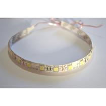 Fita Flexivel Adesiva 18 Led Smd 5050 30cm Branca 200 Lumens