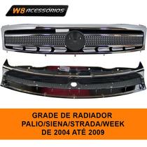 Grade Radiador Cromada Palio/siena/strada/week 04/09