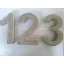 Números / Numerais Residenciais Concreto / Cimento Decorati