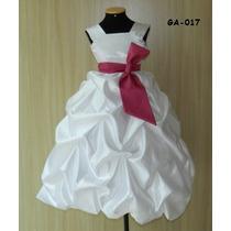 Vestido Dama Honra Aniversario Princesa Festa Criança