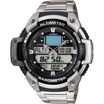 Casio Sgw-400hd Sgw-400 Aço Altímetro Barômetro Termômetro
