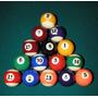 Jogo Bolas De Sinuca Bilhar Snooker. Top De Linha Com Bolão