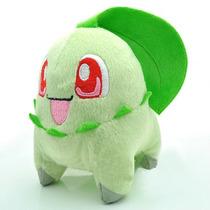 Pelúcia Chikorita 14 Cm Da Nintendo - Pokémon X E Y - Novo