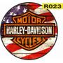 Placas Vintage Retro Redondas Em Madeira Harley Davidson