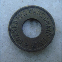 Ficha, Token 21mm, Usa For Amusement Only - Com Furo