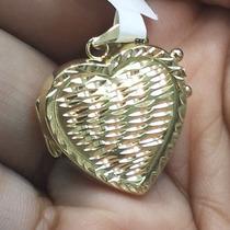 Pingente Relicário Coração 2cm Ouro18k - Leloeane