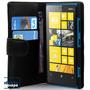Capa Carteira Lumia 920 Couro Pu Nokia Black Frete Grátis