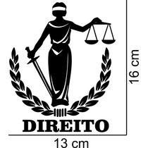 Adesivo Decorativo Automotivo Curso Direito Profissão