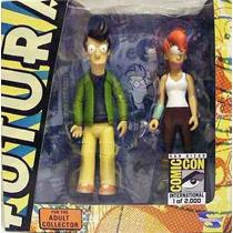 Fry And Leela - Miniaturas Importadas Toynami - Futurama