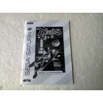 Sega Saturn - Nights Into Dreams (somente O Manual) !!!!