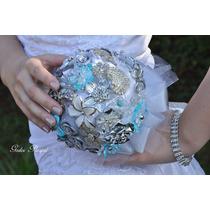Buquê/bouquet De Broches Para Noivas