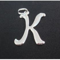 Pingente Letra K Em Prata 925