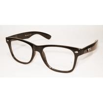 Wayfarer Preto Escuro Óculos Ou Armação Nerd Geek Retro