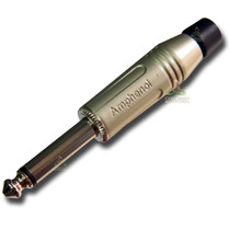Conector P10 Mono Amphenol Acpm-gn Produto Original Retire!!