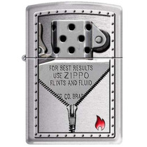 Isqueiro Zippo Zipper And Insert Moto Club Rock Pop Pub Bar