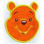 Patch Bordado Com Feltro Pooh 10x 12cm