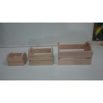 Caixote De Feira Em Miniatura, Kit Com 3 Tamanhos Diferentes