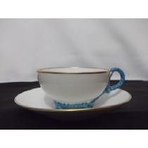 B. Antiga-xícara De Chá Em Porcelana Vista Alegre Portuguesa