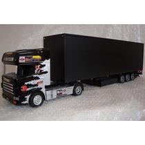 Caminhão Scania 124g Controle Remoto E Bau C/ Ilumin Total