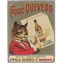 Conhaque Quevedo Bebida Garrafa Gato Animal Poster Repro