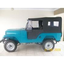 Lona Alta Jeep Willys 51 Em Diante (original) 2 E 4 Cortinas