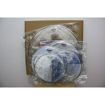 Kit De Peles P/ Bateria Adah Double Clear 12/13/16/22 E 14cx